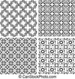 dekoratív rajzóra, elements., set., példa, vektor, tervezés