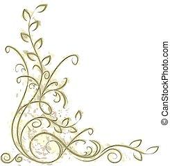 dekoratív, sarok