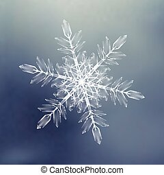 dekoratív, snowflakes., háttér példa, helyett, tél, és, karácsony, téma