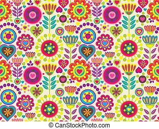 dekoratív, színes, furcsa, seamless, motívum