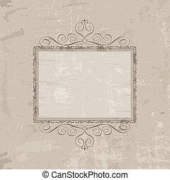 dekoratív, szüret, háttér