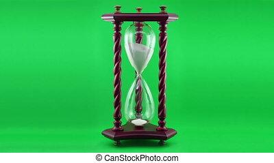 dekoratív, time-lapse, homokóra, ove