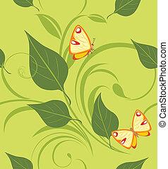 dekoratív, zöld, háttér