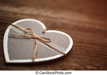 dekoration, årgång, hjärta