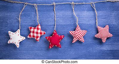 dekoration, årgång, jul