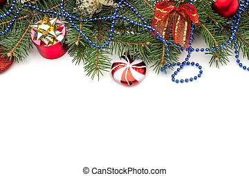 dekoration, aus, weißes weihnachten