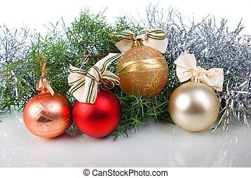 dekoration, baum, weihnachten