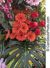 dekoration, blumen, bunte, floristic, schoenheit