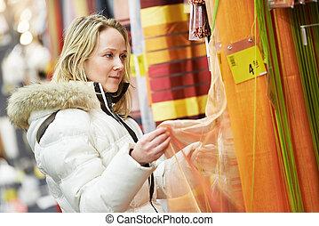 dekoration, daheim, frau- einkaufen, supermarkt