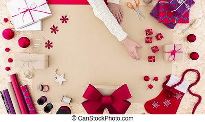 dekoration, dame, weihnachten