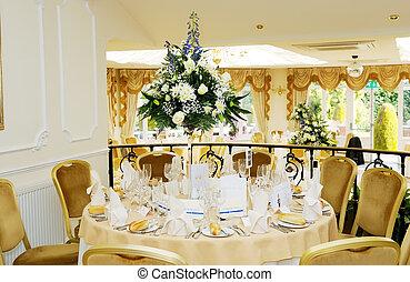 dekoration, festempfang, wedding