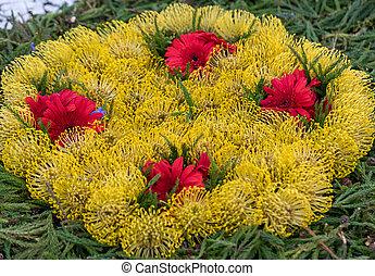 dekoration, floristic, blumen, tropische , bunte, schoenheit