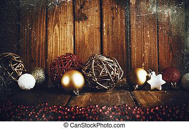 dekoration, grunge, jul, bakgrund