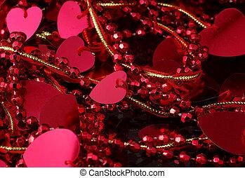 dekoration, hjärta