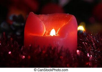 dekoration, kerze, weihnachten