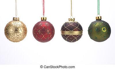 dekoration, kugeln, weihnachten