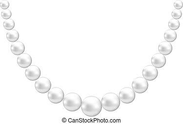 dekoration, perle
