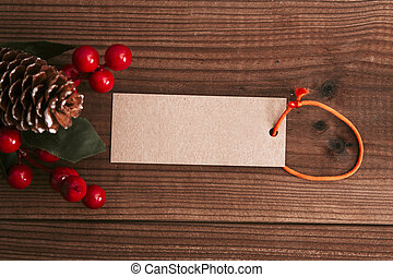 dekoration, rustic, holz, weihnachten, hintergrund