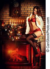 dekoration, santa