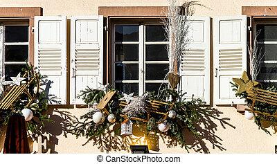 Stockfotografien von dekoration drau en weihnachten Dekoration frankreich