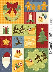 dekoration, tapete, weihnachten