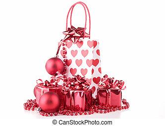 dekoration, tasche, shoppen