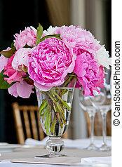 dekoration, tisch, wedding, reihe