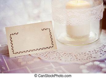 dekoration, tisch, wedding