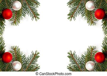 dekoration, träd, jul