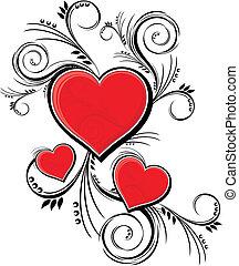 dekoration, valentinkort