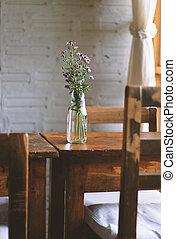 dekoration, von, a, kaffeestube, filter