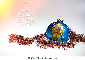 dekoration, weißes, freigestellt, hintergrund, weihnachten