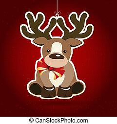 dekoration, weihnachten, hintergrund, illustration.