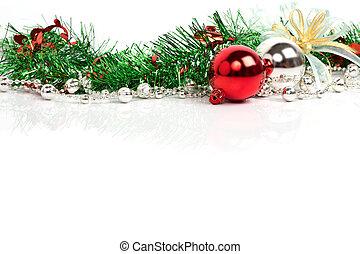dekoration, weihnachten, hintergrund
