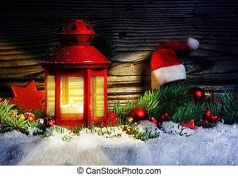tanne dekoration zweig kerze weihnachten laterne. Black Bedroom Furniture Sets. Home Design Ideas