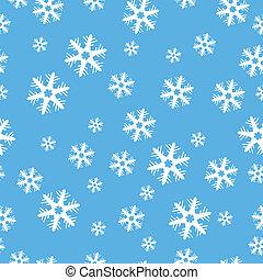 dekoration, weihnachten, schneeflocken, seamless