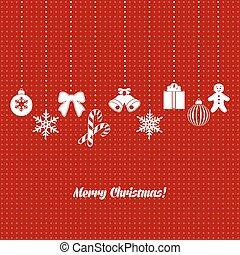 dekoration, weihnachtskarte