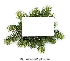 dekoration, weihnachtskarte, gruß