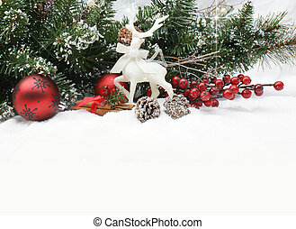 dekorationer christmas, ind, sne