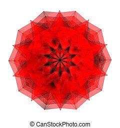 dekorativ, abstrakt, diamant, rotes