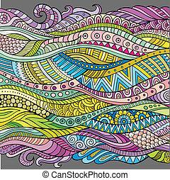 dekorativ, abstrakt, vektor, hintergrund, wellen