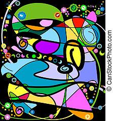 dekorativ, abstraktes design