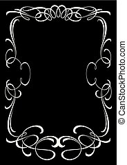 dekorativ, altmodisch, frame.