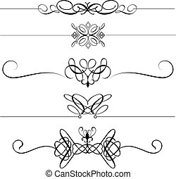 dekorativ, avdelare, sida