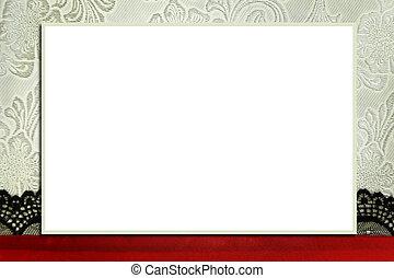 dekorativ, begriff, frame., foto, photobook, sammelalbum,...