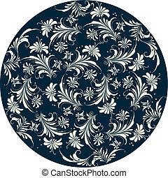 dekorativ, blommig, bakgrund