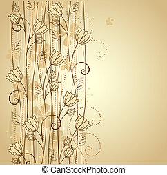 dekorativ, blomningen