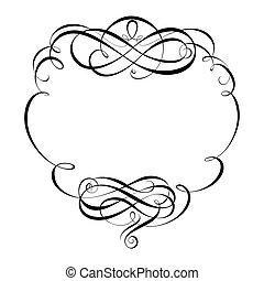 dekorativ, dekorativ, rahmen, kalligraphie