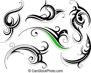 dekorativ, formen