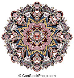 dekorativ, geistig, lotos, symbol, mandala, indische , kreis